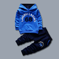 Toddler Kids Boy Outfit Clothes Infant Baby Boy Clothing Casual Hoodie+Trousers