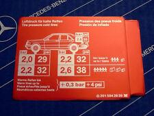 Original Mercedes Aufkleber REIFENDRUCK / Tankklappe W201 190E NOS! Restposten!