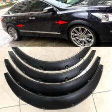 4Pcs Black Universal Flexible Car Fender Flares Extra Wide Body Wheel Arches