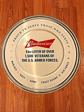 *NEW* BUDWEISER - ARMED FORCES - ARMY NAVY MARINES AIR FORCE - METAL BEER SIGN