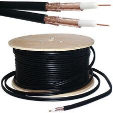 Twin/Dual CT100 Coaxial Digital Satellite/Aerial Cable Black Sky+ 100m Drum