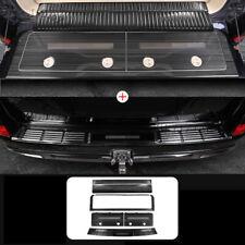 Black Trunk Door Sill Bumper Scuff Plate For TOYOTA Land Cruiser LC200 2008-2020