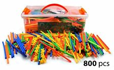 Large 800 Piece Straws Builders Construction Building Toy - Giant Pack with