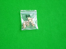 Bag of 10 x 10 mm Brass ferrules for snooker pool cues with stick-on tips
