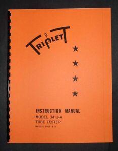 Triplett Tube Tester 3413-A Manual