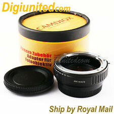 Camdiox Focal Reducer Speed Booster Pentax K PK lens to Micro 4/3 m43 Adapter