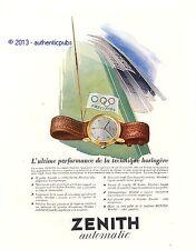 PUBLICITE ZENITH MONTRE AUTOMATIC JEUX OLYMPIQUES DE 1950 FRENCH AD WATCH PUB
