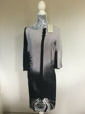 BNWT NEW MARY KATRANZOU Super Flattering Dress 100% Silk SATIN 10 UK 42 IT 6 US