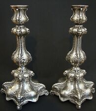 pair antique silver plate Wmf candle holder Free Shipping Worldwide