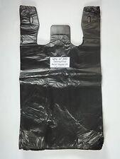 300 Qty Black Plastic T Shirt Retail Shopping Bags With Handles 115 X 6 X 21