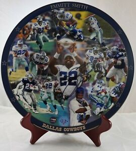 Emmitt Smith Autographed Limited Edition Danbury Mint Collectors Plate – Cowboys