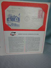 1965 First Day Cover Stamp 5Cts Herbert Hoover 31st President W Branch Iowa Mint