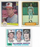 (3) 1982 Cal Ripken Jr. RC Lot - Topps - Fleer - Donruss - Rookie