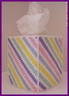 PINK BLUE YELLOW GREEN NURSERY HANDMADE PLASTIC CANVAS TISSUE BOX COVER TOPPER
