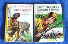 ancienne bibliothèque rose / Tom Hill / Davy Crockett / lot de 2