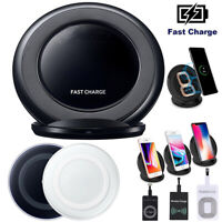 Qi Wireless Charger Fast Charging Stand Pad For Samsung S10 S9 S8 Plus Note9 Lot