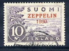 FINLAND 1930 Zeppelin overprint used