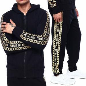 Mens Hoodies Jogger Cotton True Religion Zip Sweatshirt Hooded Top Fleece Hoodie