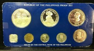 1976 Republic Of The Philippines Proof Set W Sterling Silver Coins