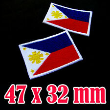 1 x Philippines Flag Embroidered Patch Philippine Iron On National Emblem Manila