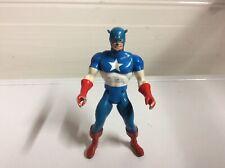 "Marvel Secret Wars Captain America Action Figure 1984 Mattel Vintage 4.5"""