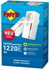 AVM FRITZ! Powerline 1220e Set (1.200 Mbit/s, 2 x LAN Gigabit per adattatore, Nuovo/Scatola Originale