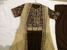 Indian/Pakistani 4 piece lengha brown/cream size 12-14