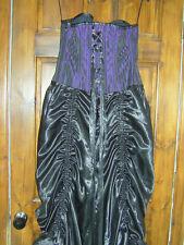 Purple & Blk Vintage Goth Corset Dress Victorian Steampunk Vamp Whitby XXL Sz20