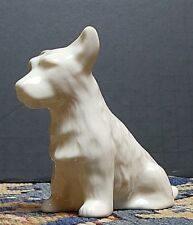 Irish Belleek Scottish Highland Terrier Scotty Dog Figurine Mint!