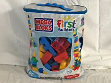 Mega Bloks Big Building Bag - Approximately 90 Pieces - Pre-Owned *