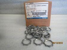 """Thomas&Betts LN201 1/2"""" Ridgid Conduit Locknuts zink NEW BOX of 200"""