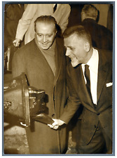 France, Robert Buron, Ministre des Transports  Vintage silver print Tirage arg
