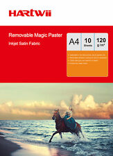 10 Sheets A4 Self-adhesive Waterproof Repeat Sticky Photo Inkjet Paper Fabric AU