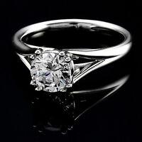 .62 CT D/VS2 ROUND CUT DIAMOND SOLITAIRE ENGAGEMENT RING 14K WHITE GOLD ENHANCED