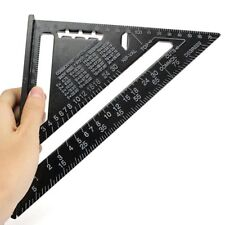 """Aluminum Alloy Speed Framing Rafter Square Metric/Imperial system 7"""" ruler VB"""