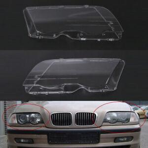 1 Pair Headlight Lens Covers for BMW 3 Series E46 98-01 63126902754 63126902753