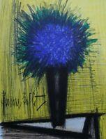 BUFFET Bernard : Le bouquet bleu - LITHOGRAPHIE originale signée, MOURLOT, 1967