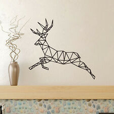 Geometric Animal Deer Head New Design Wall Sticker Geometry Series Decor Yali
