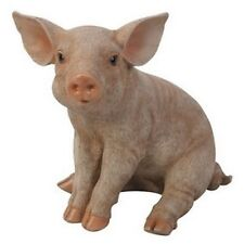 SITTING Pig Figurine (small version)  - Life Like Figurine Statue Home / Garden