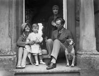 OLD PHOTO English Writer Sacheverell Sitwell At Home At Weston Hall Towcester 1