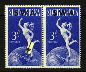 SOUTH WEST AFRICA 1949 3d. U.P.U. VARIETY LAKE IN EAST AFRICA SG 140b MINT
