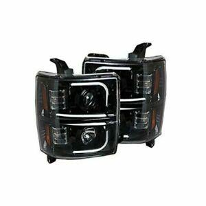 Recon 264275BKC Smoked Black Projector Headlights Kit for 14-17 Chevy Silverado