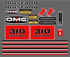Mustang 310 Reproduction Decal Sticker Kit Omc Skid Loader Usa Made Quality