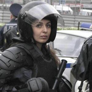 RUSSIAN MILITARY NEW MODEL RIOT HELMET FSB OMON 2012 HARD HAT WITH SHIELD M L XL