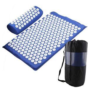 Yoga Mat Acupressure Relieve Stress Back Body Pain Spike Mat Acupuncture Mat Bag