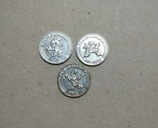 3 x different 2000 Power Digimon gaming tokens 26 mm