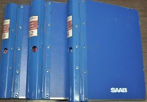 1979 to 1984 Saab 900 ~ Factory Service Manuals ~ 3 ring binders and 9 manuals