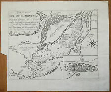 Bellin Original Map Montreal Canada - 1760