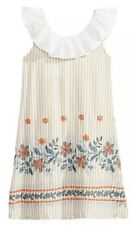 NWT Bonnie Jean Ruffle Neck Embroidered Floral Dress, Size 5