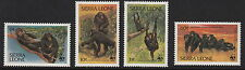 SIERRA LEONE :1983 WWF-Endangered Species -Chimpanzees SG745-8 unmounted